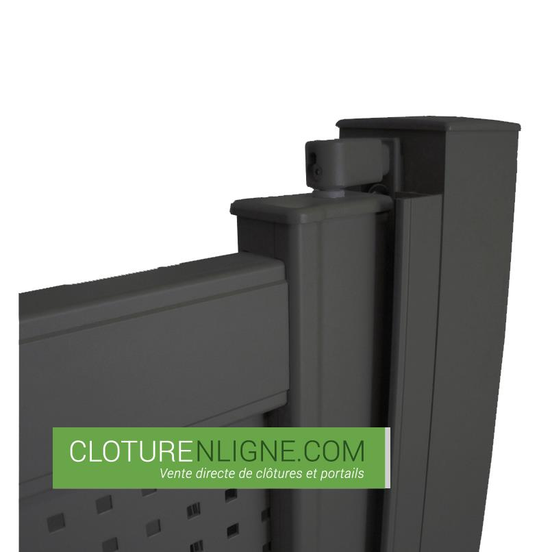 portillon alu plein lames horizontales 1m x 1m50 portails et portillons. Black Bedroom Furniture Sets. Home Design Ideas