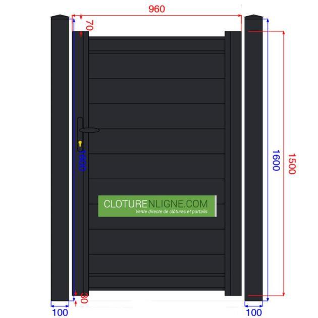 Portails et Portillons - Cloturenligne.com
