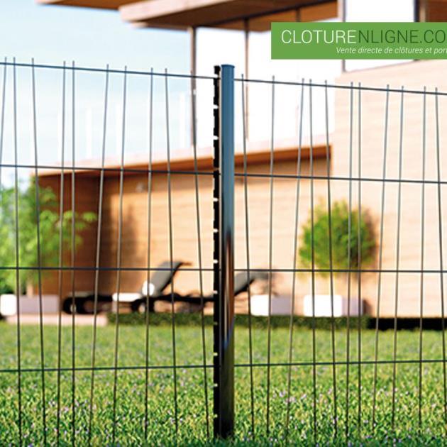 panneau de cloture domino hauteur 1m20 noir ral 9005 cloture decorative. Black Bedroom Furniture Sets. Home Design Ideas
